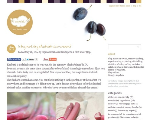 Překlad blogu pro vynikající gelaterii Angelato