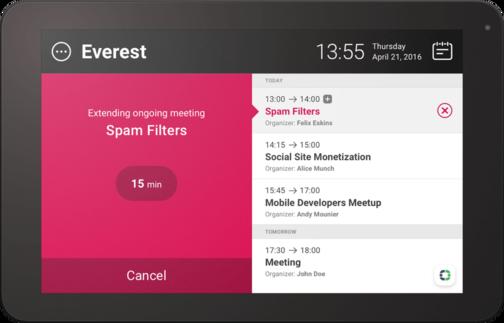 Aplikace MeetingRoomApp, ke které překládám doprovodnou dokumentaci